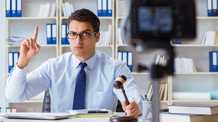 attorney recording marketing video