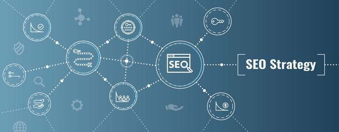 Long-tail keywords incorporated into SEO strategy concept